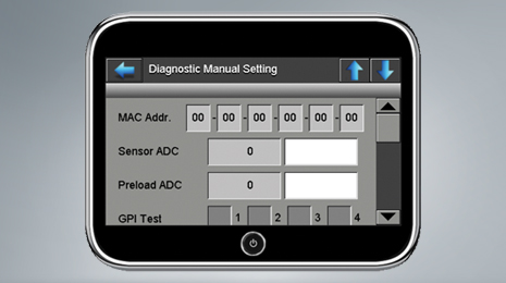 Diagnostic parameters are set either automatically or as shown manually.