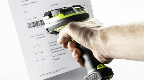 Mira 440/440 SF – Barcode scanning to quickly select articles